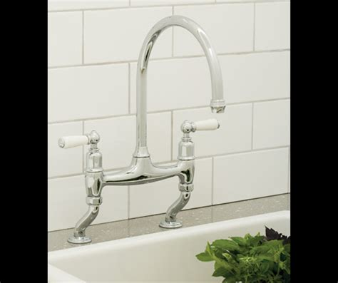 picture of kitchen sink perrin rowe ionian deck mounted sink mixer in chrome 4193