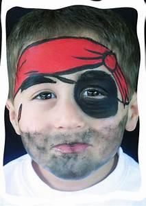Pirate Face painting design | face paint designs | Pinterest