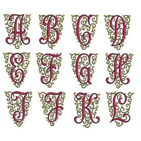fancy font monogram   machine embroidery design instant   files