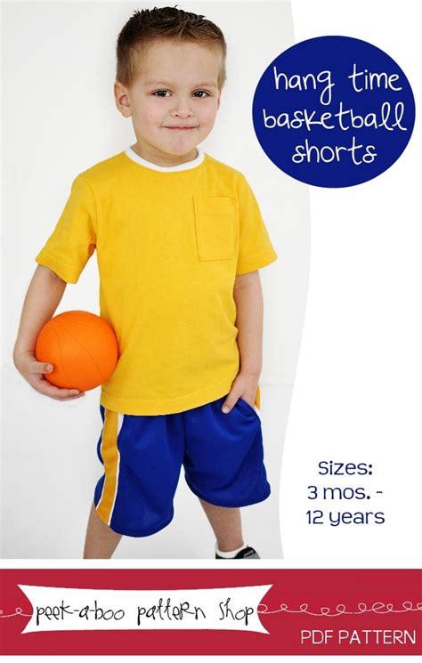 Peek a Boo Pattern Shop Hang Time Basketball Shorts Downloadable Pattern