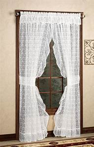 24 simple looking patterns for crochet curtains patterns hub for Simple curtain patterns
