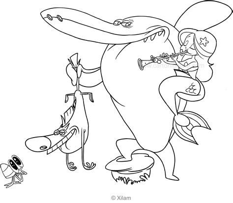 zig sharko marina  bernie coloring page