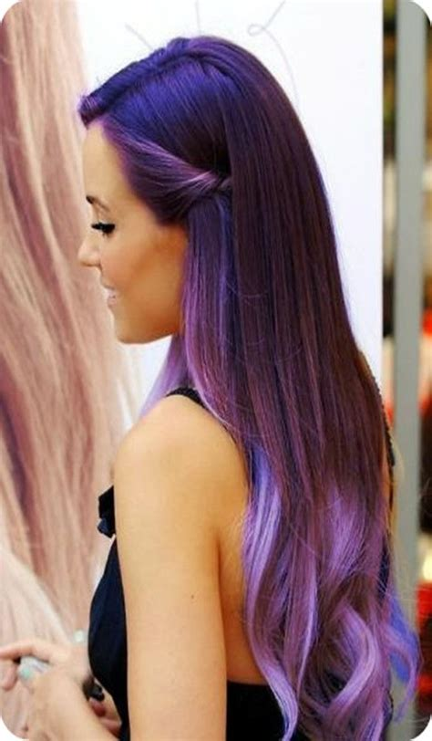 Purple Stylish Stars Hairstyles And Black Ombre Hair