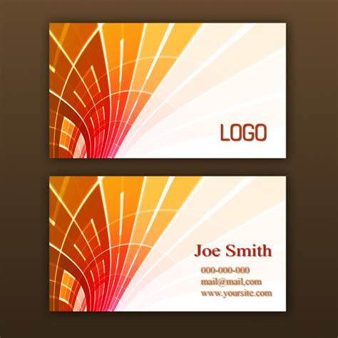 card template download free orange business card template psd file free download