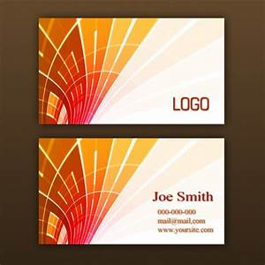 business card presentation template psd - orange business card template psd file free download