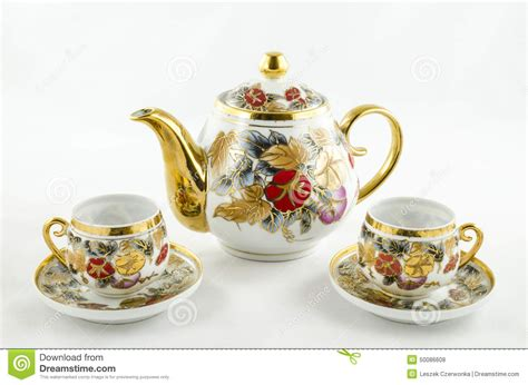 5731 tea and coffee sets antique porcelain tea and coffee set stock photo image
