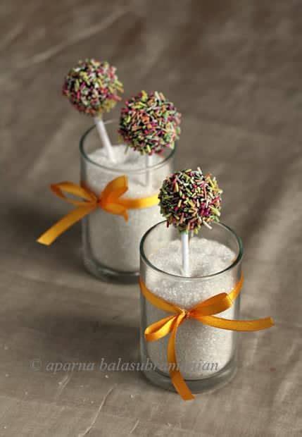 egg  cardamom white chocolate mud cake pops  diwali