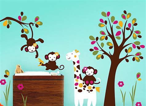 Babyzimmer Wandgestaltung Tiere by Nursery Wall Decals With Modern Flair