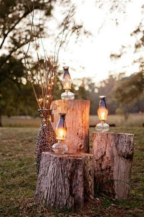 tree stumps wedding ideas  rustic country weddings