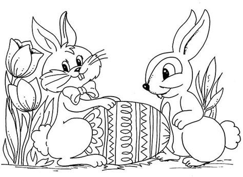 easter bunnies   easter egg coloring page  print  coloring pages