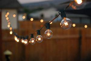 Outdoor Room Ambience  Globe String Lights