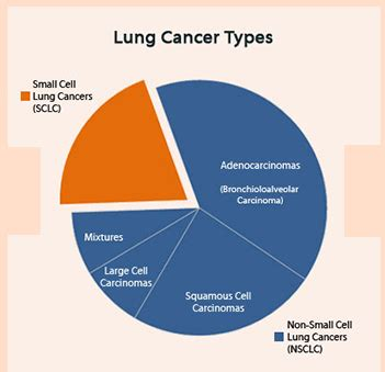 types  lung cancer symptoms   difference