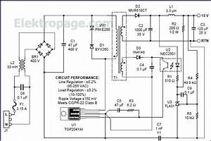 Top204 15v Switching Power Supply Circuit