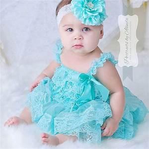 Cute Baby Girl Clothes Newborn Baptism Dress Infant Aqua ...