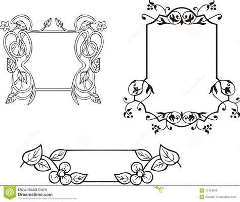 Bloemen Sierframe Decoratie Vector Illustratie