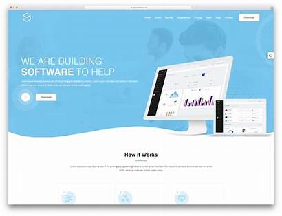 Website Templates Software Company Professional Web Template