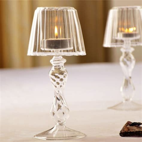 crystal glass candle tealight holder table l home