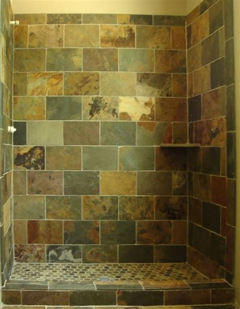 Slate Tile Bathroom Designs by Shower Tile Slate With Brick Pattern Design Client Js