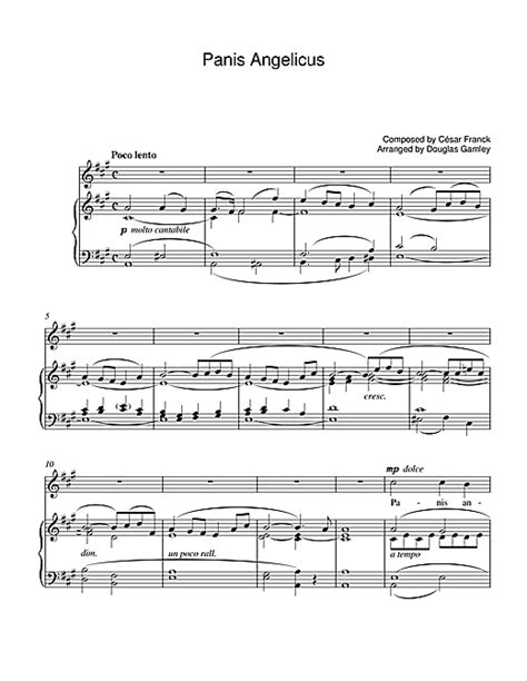 luciano pavarotti vocal range panis angelicus sheet by luciano pavarotti piano vocal guitar 39249