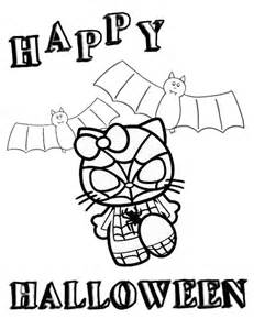 Hello Kitty Halloween Coloring Pages by Hello Kitty In Spiderman Costume Halloween Coloring Page