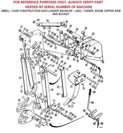 Case Loader Backhoe Parts Hydraulics Boom Tower