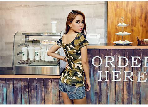 atasan baju wanita army 2016 terbaru jual