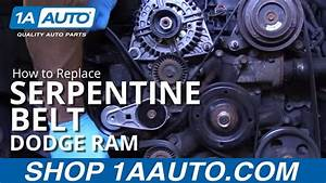 How To Install Replace Serpentine Belt 2008 Dodge Ram 5 7l