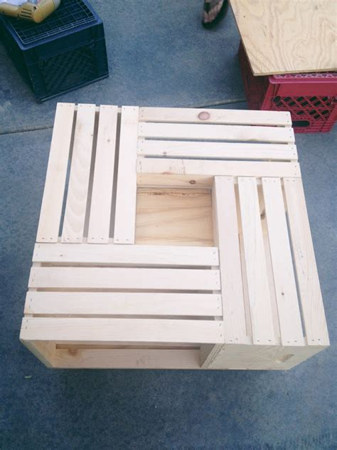 team gilster diy wood crate coffee table