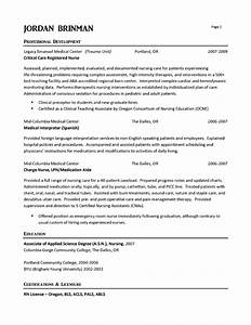 Er nurse resume example for Emergency room rn resume