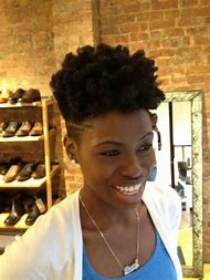 Natural Hair with Shaved Sides