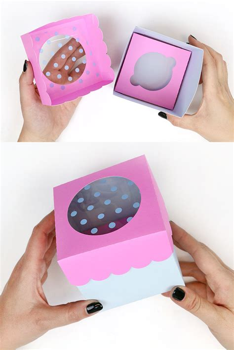 diy paper treat boxes  cut files  silhouette