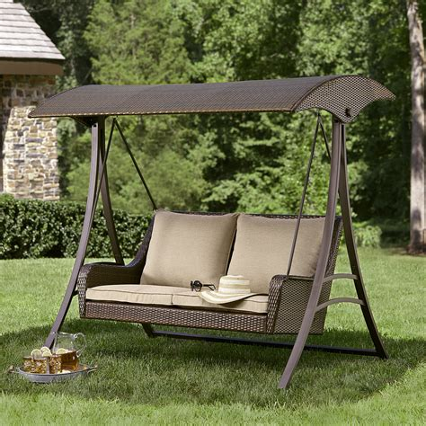 canapé swing ty pennington style parkside resin wicker swing limited