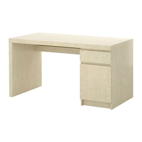 Malm Desk  Birch Veneer  Ikea. Display Cabinet With Drawers. Silverware Drawer Caddy. How Much Is A Desk. Booster Seats For Table