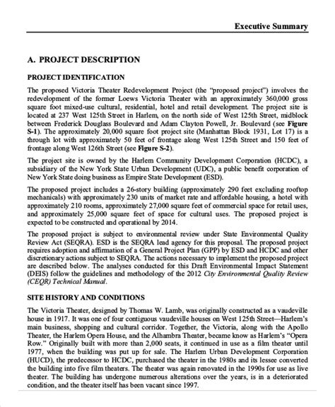 project summary template executive summary template 8 free word pdf documents free premium templates