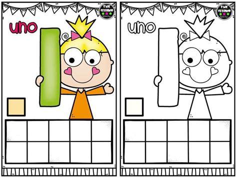 Tarjetas para repasar los números del 1 al 10 y colorear
