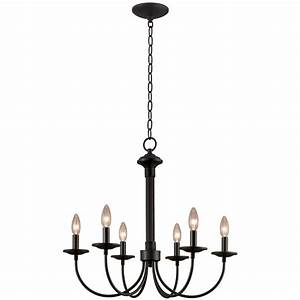 Portfolio light new century black chandelier at