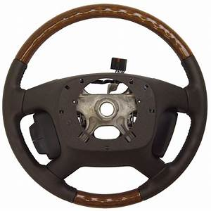 2008 Buick Enclave Steering Wheel Cocoa Leather Wood New Oem 25807099 15868339
