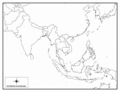 Asia Map Southeast Quiz East Maps Blank