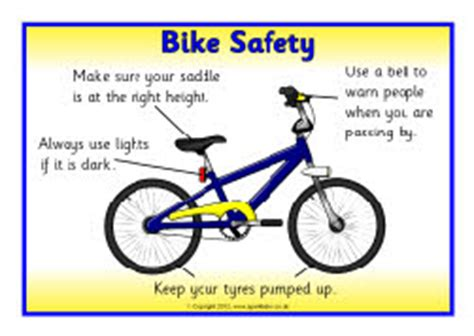 safety box for home bike safety posters sb8016 sparklebox