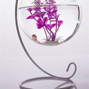 Vase Suspendu En Verre : globe vase en verre suspendu 10cm support en fer 23cm hauteur d coration pour maison jardin ~ Teatrodelosmanantiales.com Idées de Décoration
