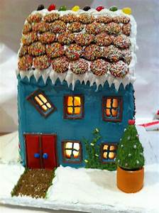 howtocookthat cakes dessert chocolate easy With gingerbread house decorating ideas easy