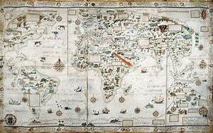 A Map Fit For A King Shows The World Of 1550