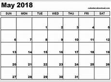 May 2018 Calendar printable 2017 calendars