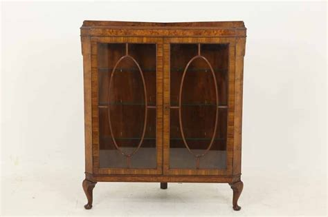 Mahogany Glass Fronted Corner Cabinet Antique Phone Booth Gold Bathroom Faucets Fireplace Surrounds Free Appraisals Rose Plates Wooden Frames What Sold Antiques Los Angeles