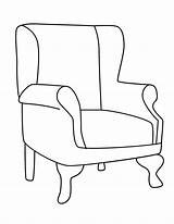 Chair Coloring Chairs Template Colouring Drawing Armchairs Stamps Printables Rocking Digital Sheets Templates Dessin Ursula Imgarcade Arm Pattern sketch template