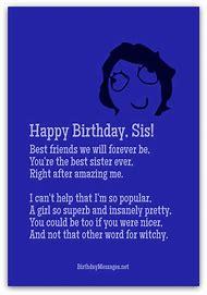 funny happy birthday sister poems