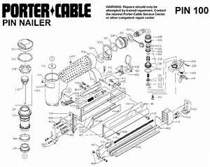 Porter Cable Pin100 23 Gauge Pin Nailer Parts