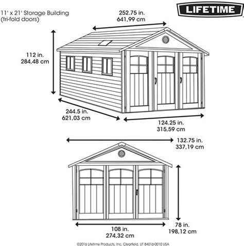 Yardline Shed Assembly Manuals by Denny Lifetime Outdoor Storage Shed Assembly