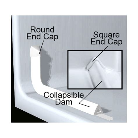 Shower Tub Liner by Collapsible Dam