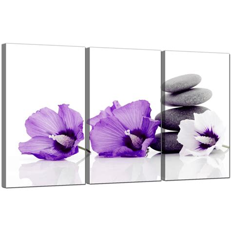 flowers canvas wall set of 3 for your dining room